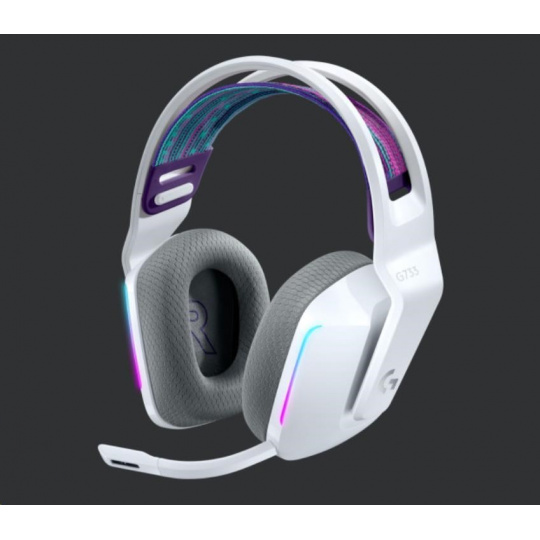 Logitech herní sluchátka G733, LIGHTSPEED Wireless RGB Gaming Headset, EMEA, white