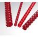 Plastové hřbety 12,5 červené