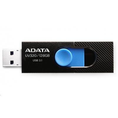 ADATA Flash Disk 128GB USB 3.1 Dash Drive UV320, Black/Blue