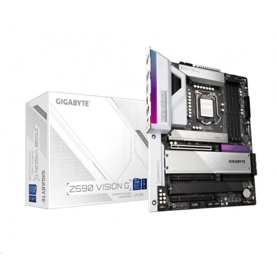 GIGABYTE MB Sc LGA1200 Z590 VISION G, Intel Z590, 4xDDR4, 1xDP, 1xHDMI