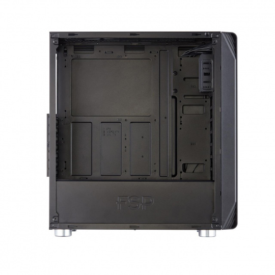 Fortron skříň Midi Tower CMT240 Black, průhledná bočnice