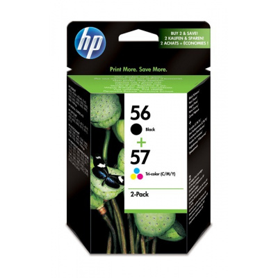 HP 56/57 Combo-B/CMY Ink Cart, 19/17 ml, SA342AE
