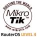 MikroTik RouterOS LEVEL 4 licence