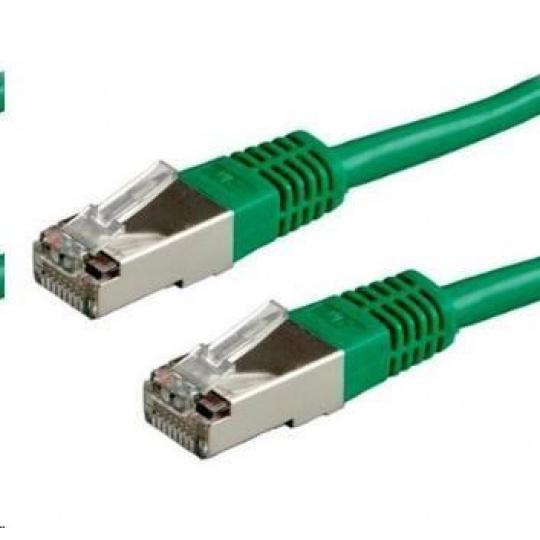 Patch kabel Cat6A, S-FTP - 1m, zelený