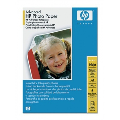 HP Advanced Glossy Photo Paper-25 sht/A4/210 x 297 mm, 250 g/m2, Q5456A