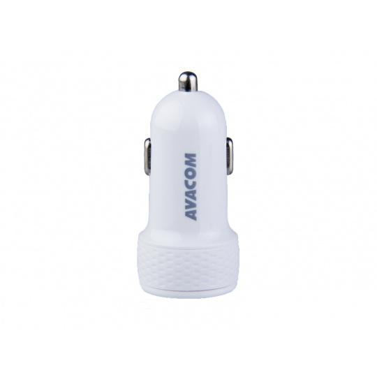 AVACOM nabíječka do auta se dvěma USB výstupy 5V/1A - 3,1A, bílá barva