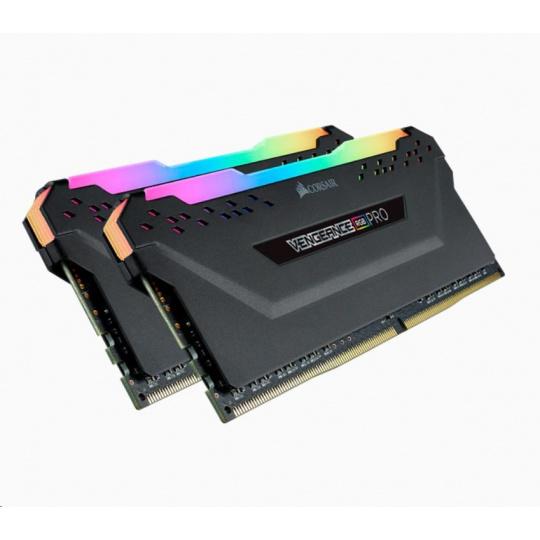 CORSAIR DDR4 32GB (Kit 2x16GB) Vengeance RGB PRO DIMM 3200MHz CL16 černá