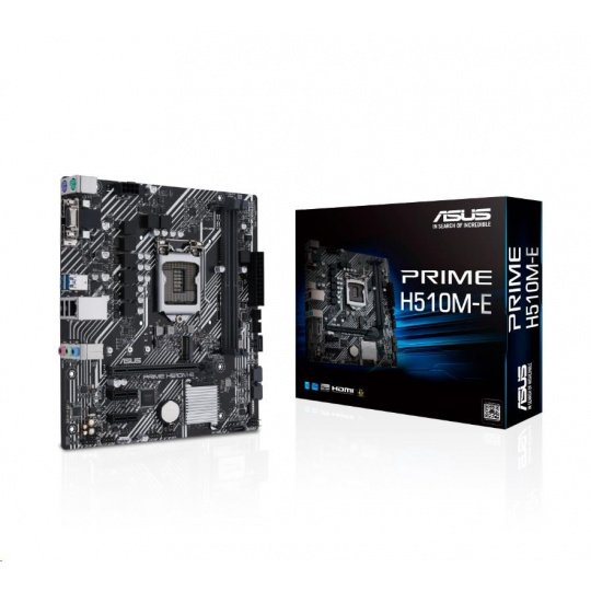 ASUS MB Sc LGA1200 PRIME H510M-E, Intel B510, 2xDDR4, 1xDP, 1xHDMI, 1xVGA, mATX
