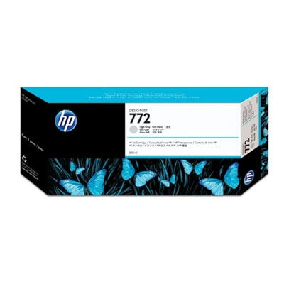 HP 772 Light Grey DJ Ink Cart, 300 ml, CN634A
