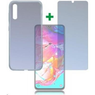 4smarts 360° Protection set (tvrzené sklo a gelový zadní kryt) pro Samsung Galaxy A70