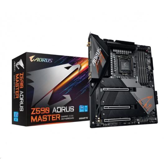GIGABYTE MB Sc LGA1200 Z590 AORUS MASTER, Intel Z590, 4xDDR4, 1xDP, WI-FI