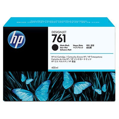 HP 761 Black matte DJ Ink Cart, 400 ml, CM991A