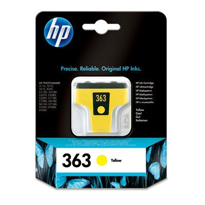 HP 363 Yellow Ink Cart, 6 ml, C8773EE