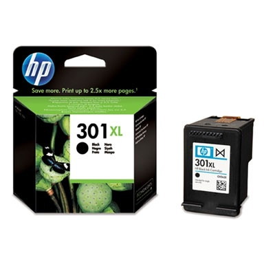 HP 301XL Black Ink Cart, 8 ml, CH563EE
