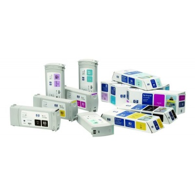 HP 83 Cyan UV DJ Ink Cart, 680 ml, C4941A