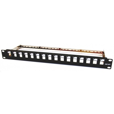 """19"""" modulární patch panel LEXI-Net 16port, černý"""