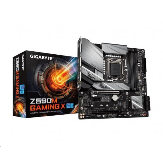 GIGABYTE MB Sc LGA1200 Z590M GAMING X, Intel Z590, 4xDDR4, 1xDP, 1xHDMI, mATX
