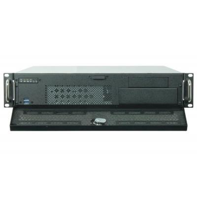 CHIEFTEC skříň Rackmount 2U UNC-210, mATX, half height PCI slots,  Black, zdroj PSF-400B (400W)