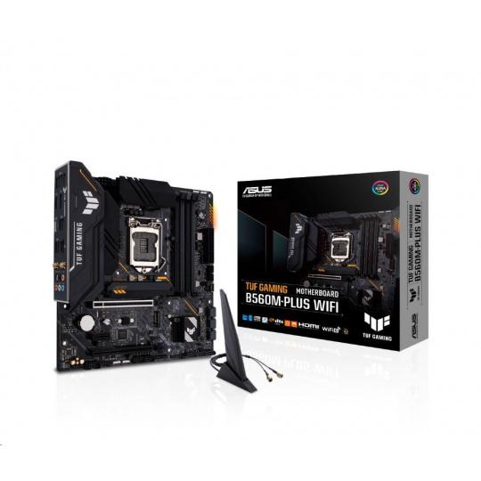 ASUS MB Sc LGA1200 TUF GAMING B560M-PLUS WIFI, Intel B560, 4xDDR4, 1xDP, 1xHDMI, WI-FI, mATX