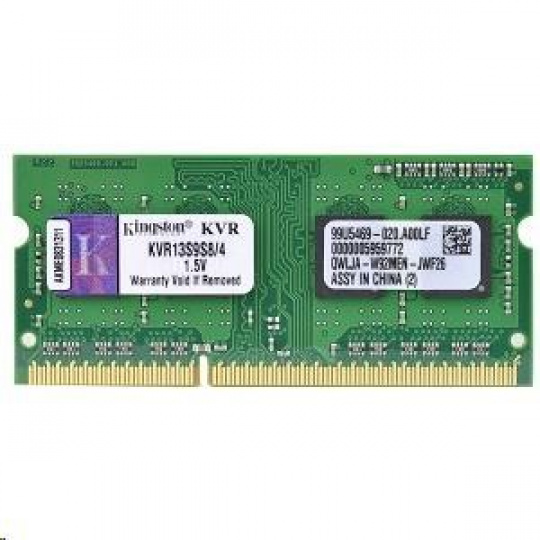 SODIMM DDR3 4GB 1333MHz CL9 SR X8, KINGSTON ValueRAM
