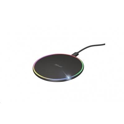 TRUST bezdrátová nabíječka na mobil Lumo10 RGB Fast Wireless Charger 7.5W/10W