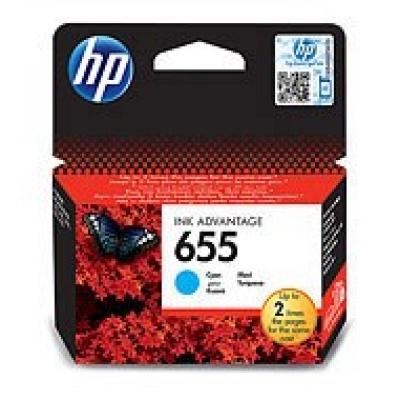 HP 655 Cyan Ink Cart, CZ110AE