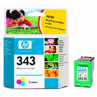 HP 343 Tri-color Original Ink Cartridge