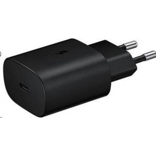 Samsung cestovní nabíječka EP-TA800NBE, Quickcharge 25W, USB-C, černá