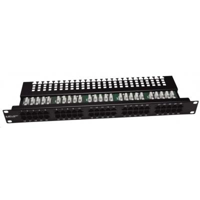 """19"""" Patch panel LEXI-Net telefonní 50port, UTP, Cat3, krone, černý"""