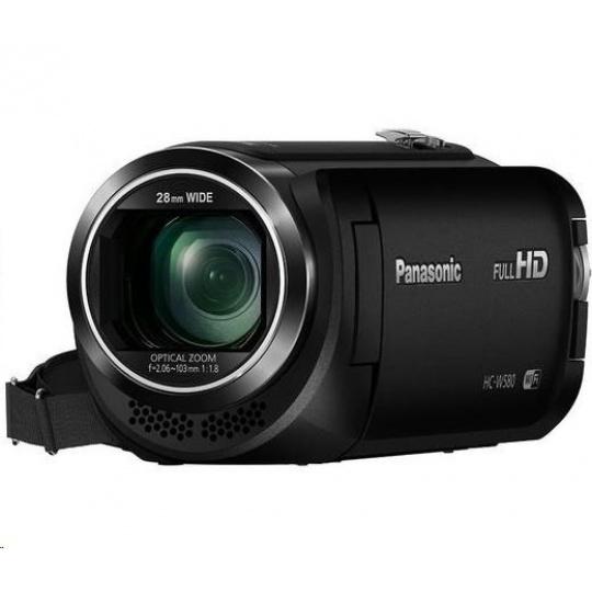 "Panasonic HC-W580 (Full HD kamera, 1MOS, 50x zoom, 3"" LCD, Twin camera, HDR, Wi-Fi)"
