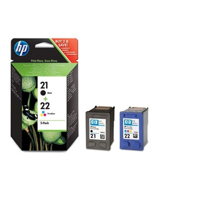 HP 21/22 Combo-B/CMY Ink Cart, 5ml, SD367EE