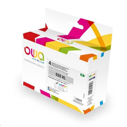 OWA Armor cartridge pro HP PACK 4 REMAN. 920XL BCMY, 48ml/3x12ml/1735p/3x960p, CD975AE/CD972AE/CD973AE/CD974AE,black+CMY