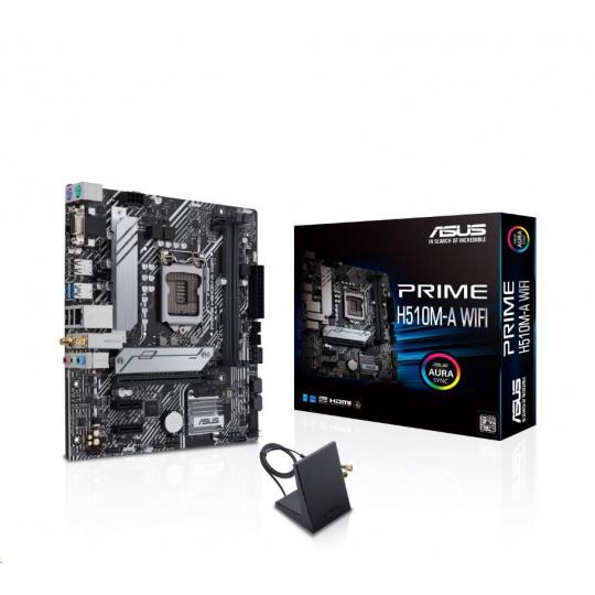 ASUS MB Sc LGA1200 PRIME H510M-A WIFI, Intel B510, 2xDDR4, 1xDP, 1xHDMI, 1xVGA, WI-FI, mATX