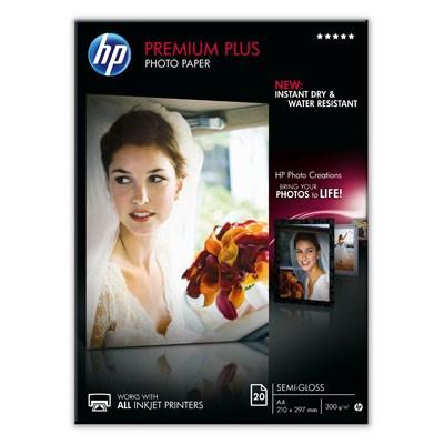 HP Premium Plus Semi-gloss Photo Paper-20 sht/A4/210 x 297 mm, 300 g/m2, CR673A