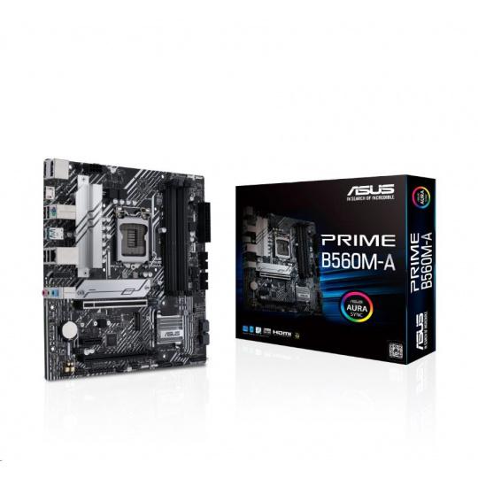 ASUS MB Sc LGA1200 PRIME B560M-A, Intel B560, 4xDDR4, 1xDP, 2xHDMI, mATX