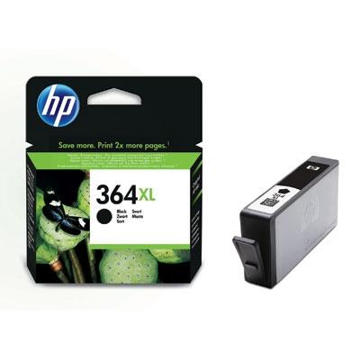 HP 364XL Black Ink Cart, 18 ml, CN684EE