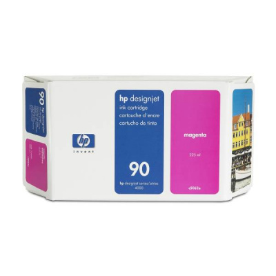 HP 90 Magenta DJ Ink Cart, 225 ml, C5062A