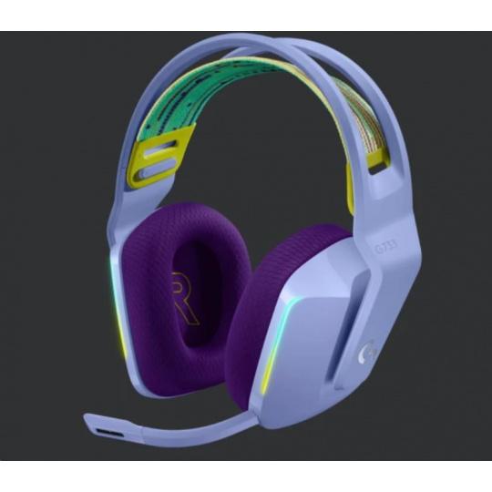 Logitech herní sluchátka G733, LIGHTSPEED Wireless RGB Gaming Headset, EMEA, lilac