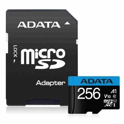 ADATA Micro SDHC karta 256GB UHS-I Class 10, Premier + ADAPTER