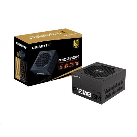 GIGABYTE zdroj P1000GM, 1000W, 80plus gold, modular, 120 mm fan