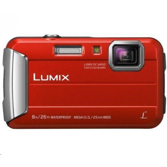 """Panasonic DMC-FT30EP-R red (16 Mpx, 4x zoom, 2.7"""" LCD, HD video, odolný)"""