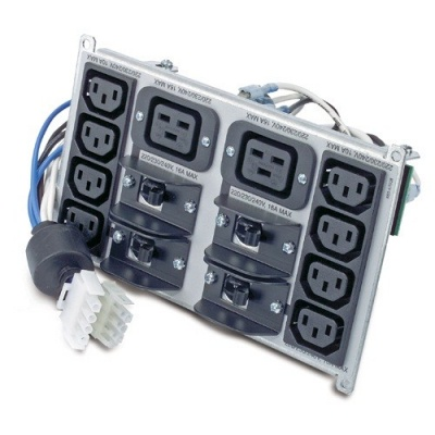 APC Symmetra RM 220-240V Backplate Kit w/(8) IEC320 C13 & (2) IEC320 C19