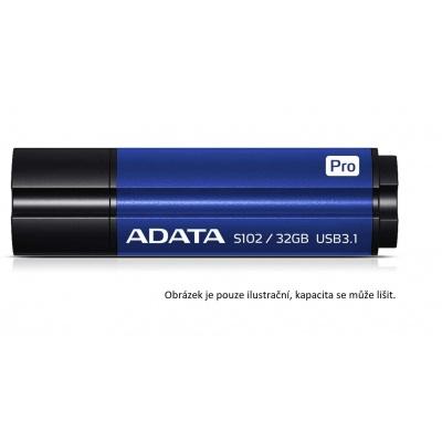 ADATA Flash Disk 128GB USB 3.1 Superior S102 Pro, hliníkový, modrý (R: 100MB / W: 50MB)