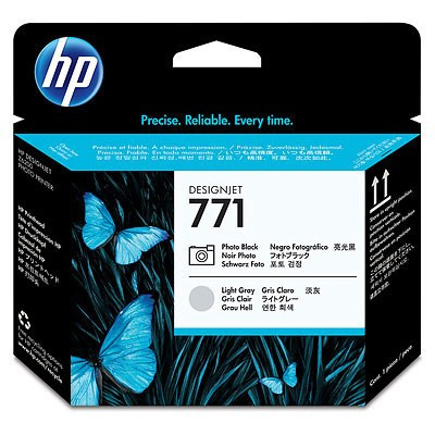 HP 771 Black photografic + Light Grey DJ Printhead, CE020A