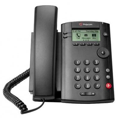 Polycom IP telefon VVX 101, 1 linkový, 1x 10/100, HD Voice, PoE, bez napájecího zdroje