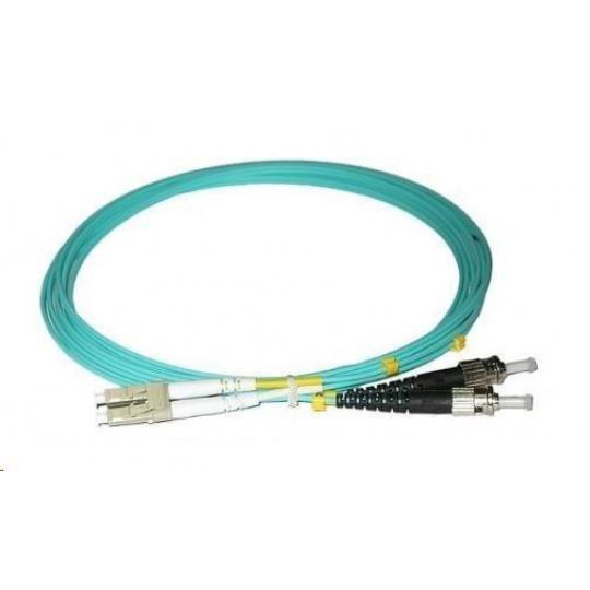 Duplexní patch kabel MM 50/125, OM3, LC-ST, LS0H, 3m