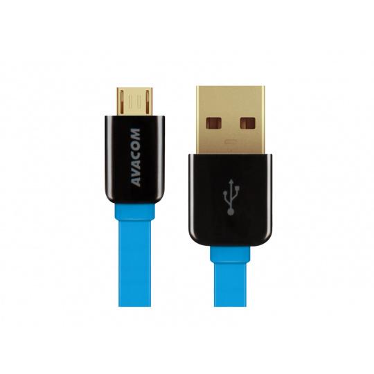 AVACOM MIC-40B kabel USB - Micro USB, 40cm, modrá