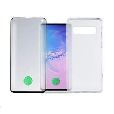 4smarts 360° Premium Protection set (tvrzené sklo UltraSonic a gelový zadní kryt) pro Samsung Galaxy S10