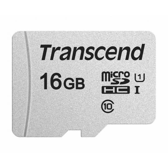 TRANSCEND MicroSDHC karta 16GB 300S, UHS-I U1, bez adaptéru