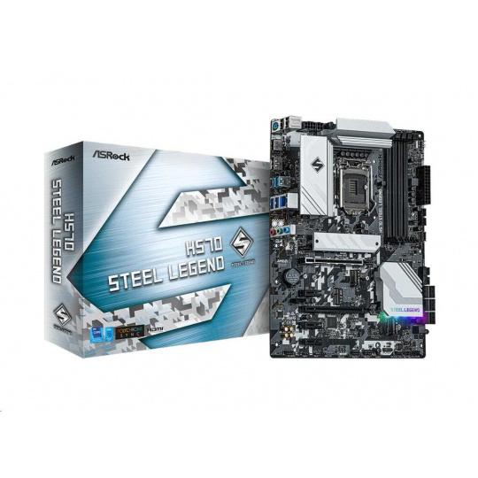 ASRock MB Sc LGA1200 H570 STEEL LEGEND, Intel H570, 4xDDR4, 1xDP, 1xHDMI
